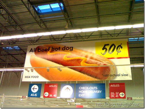 IKEA Portland, OR - Hot dog - not actual size...