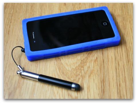 Stylus a pouzdro Kazeta pro iPhone 4/4S