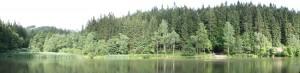 Pohled na Jezero Velké Karlovice