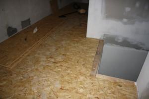 Už téměř hotová podlaha (bez plovoucí podlahy)
